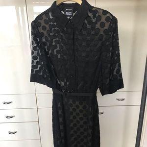 Akris Bergdorf Goodman Polka Dot Dress